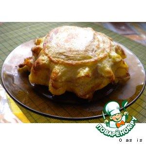 Рецепт: Шарлотка с сыром или ленивые гренки
