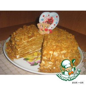 Рецепт: Медово-лимонный торт