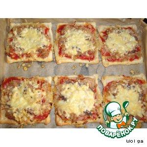 Рецепт: Мини-пицца с анчоусами