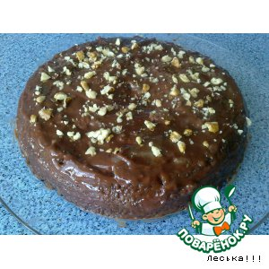 Рецепт: Шоколадный кекс с маком из микроволновки