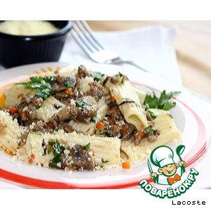 Рецепт: Паста с бараниной и грибами