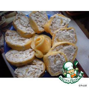 Рецепт: Сырный рулет