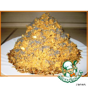 Рецепт: Торт Муравейник с муравьями