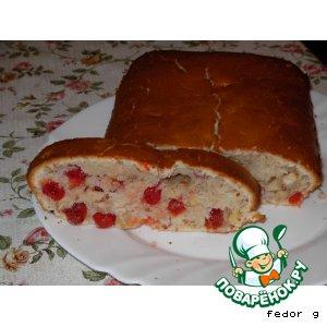 Рецепт: Кекс с миндалем и вишней