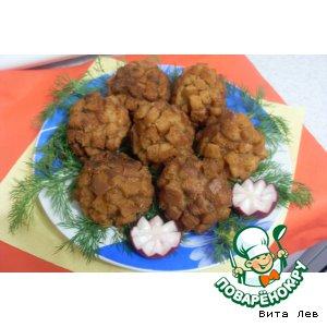 Рецепт: Печеночно-мясные ежики