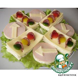 Рецепт: Бутербродная композиция Перекресток