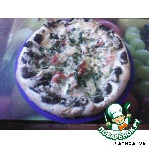 Рецепт: Пицца-небылица с грибами-сморчками