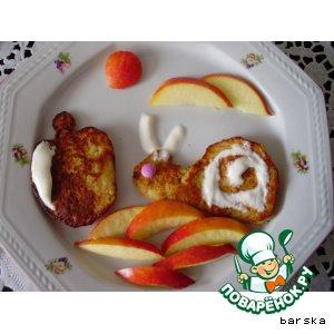Рецепт: Оладьи овсяные с яблоком