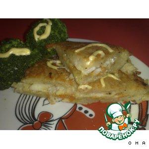 Рецепт: Рыба в картофеле с овощами