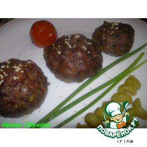 Рецепт Мясо-кабачковые маффины с начинкой