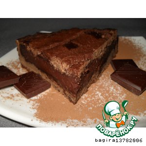 "Рецепт: Пирог ""Терпкий шоколад"""