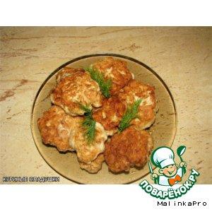 Рецепт: Куриные оладьи