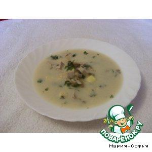 Рецепт: Рисовый суп с сыром и грибами