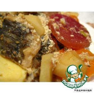 Рецепт: Рыба с овощами в рукаве