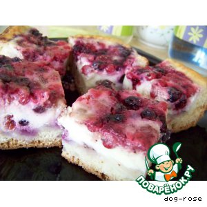 Рецепт: Пирог Ягодное лукошко