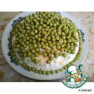 """Рецепт: Салат с редькой """"Нежный"""""""