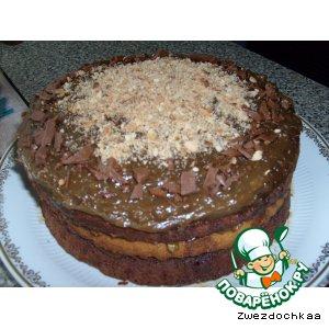 Рецепт: Торт Зебра с кофейным кремом