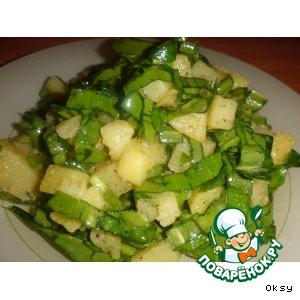 Рецепт Весенний салат из черемши