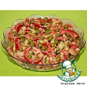 """Рецепт: Именной салат """"Адреналин"""""""