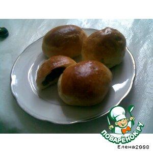 Рецепт: Изюмные булочки с клюквинкой