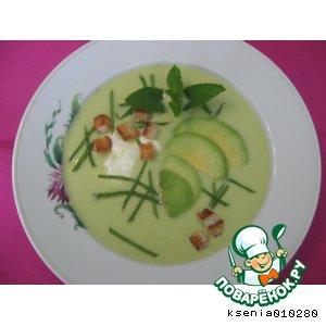 Рецепт: Холодный суп-пюре из авокадо