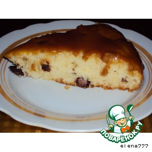 Рецепт: Бисквит с кусочками шоколада