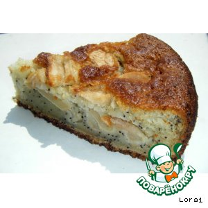 Рецепт: Пирог  яблочно-маковый проще простого