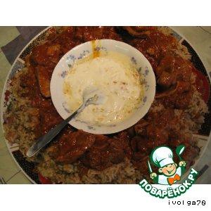 Рецепт: Рисовая каша с машем и мясом