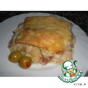 Рецепт: Треска со сливками - Bacalhau com natas