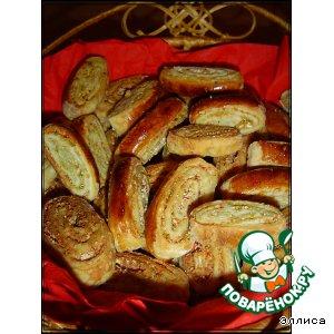 Рецепт Несладкое печенье с фисташками и крабовыми палочками