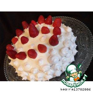 """Рецепт: Торт """"Клубничный ежик"""""""