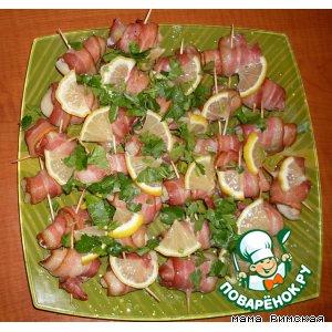 Рецепт: Закуска Гребешок в беконе