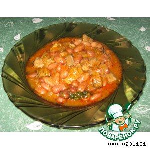 Рецепт: Свинина с фасолью