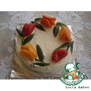 Рецепт: Рыбный торт Наполеон