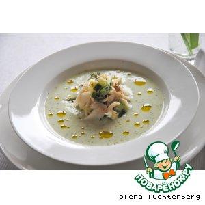 Рецепт: Холодный суп с копченой рыбой