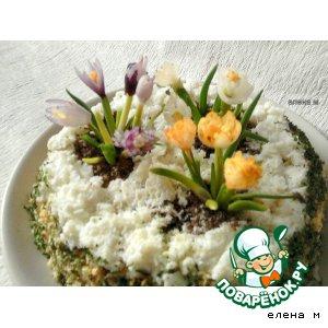 """Рецепт: Салат """"Весенние цветы"""""""