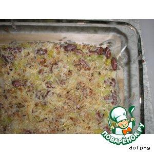 Рецепт: Фасоль с луком-пореем по-весеннему