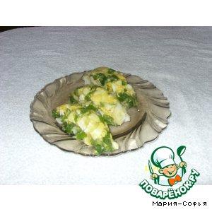Рецепт: Закуска Заливное из минтая с яйцом