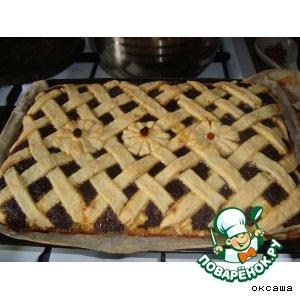 Рецепт: Пирог маково-творожный