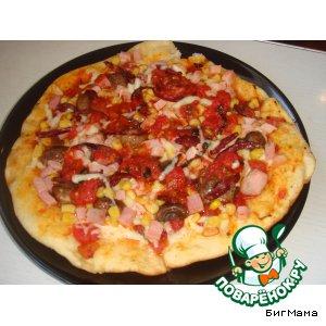 Рецепт: Пицца фритта от Маруси