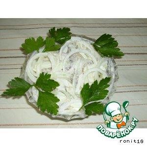 Рецепт: Салат с куриным сердцем