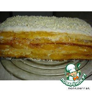 """Рецепт: Торт """"Нежный персик"""""""
