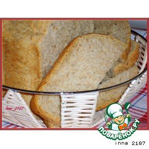 Рецепт: Хлеб с отрубями и кунжутом