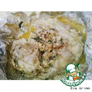 Рецепт: Курица в фольге на углях