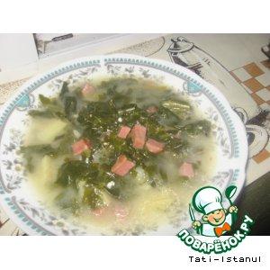 Рецепт: Деревенский английский шпинатный суп