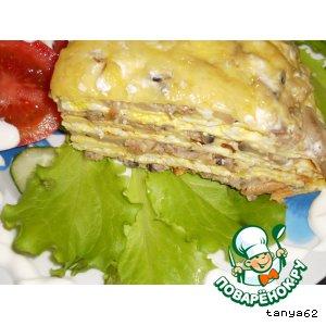 Рецепт: Блинчатый пирог