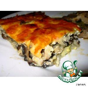 Рецепт: Запеканка картофельная с грибами, яйцами и сыром