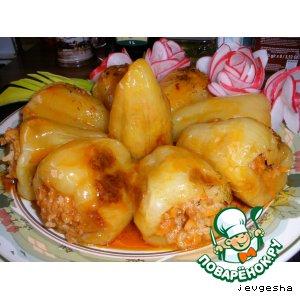 Рецепт: Болгарские перцы фаршированные