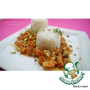 Рецепт: Моя отдушина, рис с медом и креветками