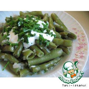 Рецепт: Молодые бобы на оливковом масле